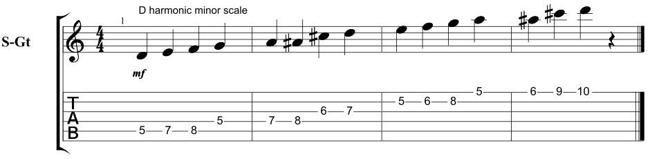 Âm giai Dm hòa âm dây số 5