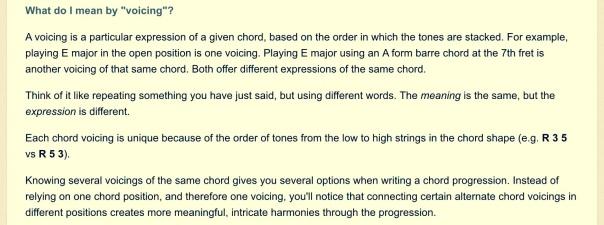Định nghĩa Chord Voicings